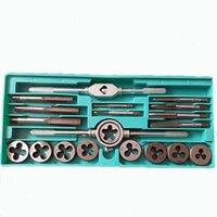 20pcs / set legierter Stahl-Gewindebohrer und Matrizen Set M3 ~ M12-Schraubengewinde-Tap Wrench Die Schlüssel-Handbuch Metric Tapping Tool Kit Set