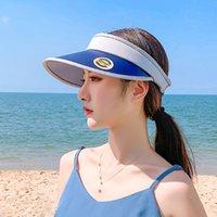 قبعات جديدة بسيط الإناث المد الصيف قبعة الظل التطريز في الهواء الطلق قبعة صياد