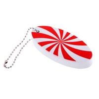 Leichte EVA-Schwimm Marine Kayak Boot Yacht Segeln Schlüsselanhänger Schlüsselanhänger Buoyant Float - Rot und Weiß Surfbrett-Form