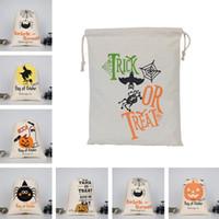 هالوين هدية أكياس كبيرة خدعة الثقيلة العضوية حقيبة قماش أو علاج العنكبوت أصوات الاستهجان هالوين الحلوى هدية القطن حقيبة الديكور DDA502