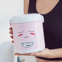 비 스틱 코팅 이동식 내부 냄비 핑크와 녹색 쌀 요리와 개인 미니 밥솥 220V 가정용 요리기구