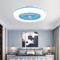 Modern Simple Intelligent Ceiling Fans with Lights Bedroom L...