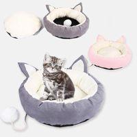 Pet Chat Bed Nest Super Soft Pet lit Kennel Dog Rond Cat Chat Hiver Chaud Sac de couchage Peluche Chiot Coussin Mats Chiens Perros Acesorios