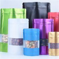 Plastica trasparente Sacchetto autosigillante Food Packaging Borse di alluminio a prova d'umidità odore bagagli rettangolo Pouch Popolare 54 8JH G2