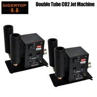 TIPTOP 2 teile / los Doppel Düse CO2 Jet Machine LED Bühne CO2 JET DMX Hohe Qualität 90V / 240V Fogger - Rauch - Waffe -