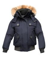 Bombardero AUDRINA de 2020ss las mujeres Crosshatch de Down Parka Negro marino oliva capa del invierno Arcticparka chaqueta de venta en línea tienda