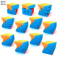 Moyu Meilong cubo mágico 2x2 3x3 4x4 stickerless 5x5 6x6 7x7 8x8 9x9 10x10 11x11 12x12 Megaminx velocidad Cubos del rompecabezas regalo de los juguetes