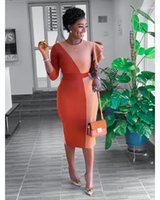 Clothing Luxury Womens Designer Dress Summer Irregular Sleeve Fashion Panelled Casual Dresses Slim Midi Dresses Female