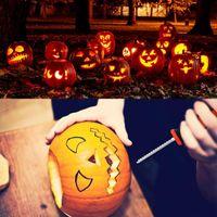 5шт / Set Halloween Pumpkin Carving Kit Хэллоуин украшения DIY Инструмент для взрослых детей Тыква Фонарь Carving Игрушка Набор ножей XD23968