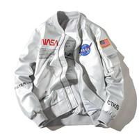 남성 가죽 자켓 남성과 여성 커플 가죽 재킷 2019 새로운 가을, NASA 우주 비행사 재킷 유행 잘 생긴 오토바이 의류