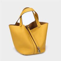 2020 nueva moda de marca bolso cesta de lujo de diseño de colores de capa Womans bolsa de bloqueo Picotin zurriago principal Cubo Paquete bolso de mano llevar a la marea