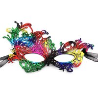 Dentelle coloré Phoenix moitié masque visage avec masque réglable ruban Mesdames Sexy Party dentelle pour Noël mascarade de Halloween Carnaval Party
