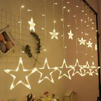 AC110V o 220V di illuminazione di festa LED Fata Stella tenda della stringa luminarias Ghirlanda Decorazione natalizia Wedding luce LED di 2.5M Icicle Luci