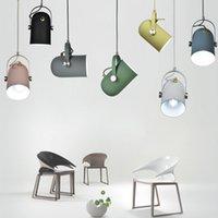 Nordic Minimalismo droplight ângulo ajustável E27 luzes pingente pequeno, Casa lâmpada decoração de iluminação e Bar Showcase local iluminação de luz
