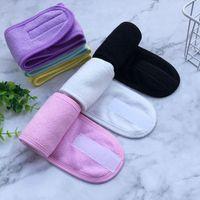 Banyo Duş Bantlar Kadınlar Kozmetik Hairbands Yıkama Yüz Makyaj Bandı Moda Kızlar Türban Spa Salon Aksesuarları 8 Renkler 20 adet DW5861