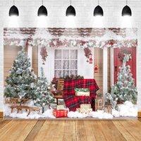 Materiał Tła Boże Narodzenie Po Tło Zimowe Dekoracje śniegu Banner Do Pography Children Urodziny Studio Rok