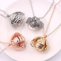 New Guardian Photo Box Necklace Lucky Angel Wing Hug cage Lo...