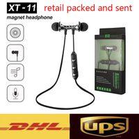 XT11 Auriculares magnéticos Cancelación de ruido Cancelación en la oreja XT-11 Auriculares Bluetooth Auriculares inalámbricos para Samsung con caja de venta al por menor
