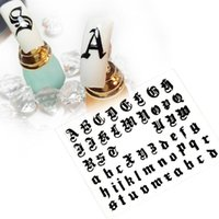 5sheet / серия 3D Letter Nail Art наклейки для ногтей Наклейка Старый английский алфавит символов наклейки деколь украшения DIY