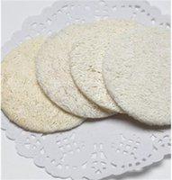 Pulizia del viso pennello spugna zucca make up naturale Togli reticolare Loofah Compone Rimuove pulitrice del fronte di alta qualità 0 35ny F2