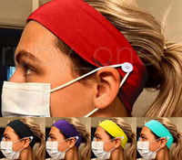 Gesichtsmaske Kopfbandhalterung Sport Strickstirnband mit Knopf Ohr-Retter-Stirnband für Gesichts-Abdeckungs-Party Favor RRA3574