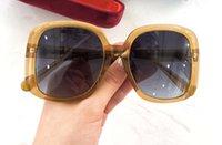 0713 TURUNCU / MAVİ GÖLGELİ kadınlar Güneş Güneş kutusuyla yeni des lunettes de soleil Moda Güneş gözlükleri Maske