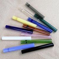 10 mm concentré Taster bon marché en verre Un Hitter Smoke pipe Tabac Cuillère lourd Color Mix Livraison gratuite en gros