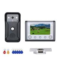 비디오 도어 폰 7 인치 1monitor or2monitor 컬러 인터콤 전화 RFID 시스템 HD 초인종 1000TVL 카메라 전기 스트라이크 잠금 장치