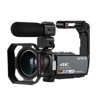2020 nova câmara de vídeo 4K Digital Filmadora Full HD ORDRO AE8 Night Vision wi-fi 3.0 IPS Touch Screen Filmadora Vlog Camera