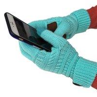 Cinq doigts Gants de laine européenne et américaine tricotée de fil à écran tactile