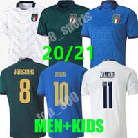 2021 Homens Crianças Itália Jersey Soccer Away Home 3rd Barella Sensi Insigne 20 21 Renaissance Chiellini Belotti Camisas de futebol
