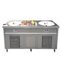 Expédition gratuite à Tool Cuisine Équipement Machine à crème glacée frite CE Double CE Double 20 pouces avec 10 réservoirs de refroidissement