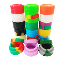 5ML ronde silicone Container Jars Dabs cire Conteneurs sec aux herbes FDA Boîte en silicone pour cire concentré contenants d'huile