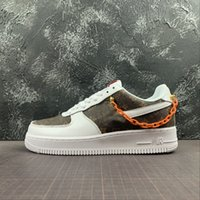 New Custom 1 Low Time Out Schwarz Air One-Dienstprogramm orange Kette Herren Schuhe Turnschuhe 1s Sport Skate Trainers Größe Lauf 36-45