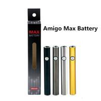 510 Batería de hilo AMIGO MAX Precalentamiento Pens tensión ajustable con cargador Micro-USB 380mAh Vape Cartucho Vaporizador de batería Baterías de la pluma
