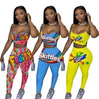 designer womens casual tracksuit 2020 summer printed womens ...