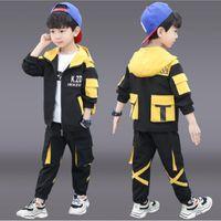 ملابس الأطفال دعوى لفصل الربيع الخريف 2020 الرياضية أزياء رسالة الترفيهية الأدوات الأطفال كبيرة دعوى مجموعات 2piece 7 8 9 10