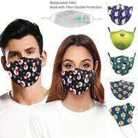 DHL Christmas 3D digital printing protective Designer Masks adjustable protective mask dust with PM2.5 filter face masks