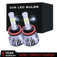 2ST LED H4 H7 H1 H3 H11 H13 H27 9004 9005 9006 9012 3 4 9007 LED-Scheinwerfer-Birnen-72W 16000LM 6000K Canbus-Nebel-Lampe 12V 24V