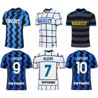 2020/21 Eriksen Milan Soccer Jersey 2021 # 55 Hakimi Lukaku Lautaro موحدة رجل دي Vrij Gagliardini Brozovic Alexis كرة القدم قميص