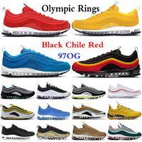 2020 97og Üçlü Siyah Beyaz Gümüş Şili Kırmızı Magma Turuncu Erkekler Koşu Ayakkabıları Olimpiyat Yüzük Güney Plaj Sarı Kadın Spor Sneakers 5.5-11