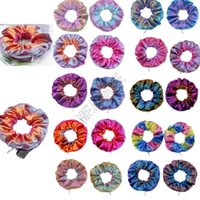 Zipper Scrunchies Gradiente de cor Scrunchy elásticos de cabelo gravata Corda Mulheres Meninas Moda Hairbands rabo de cavalo titular Accesseries Cabelo D91507