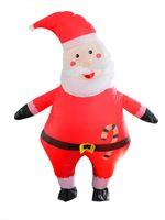 Inflável Papai Noel do Natal do terno de alta qualidade à prova d'água engraçado bonito Blow Up Cosplay Suit Para Eventos Festival partido