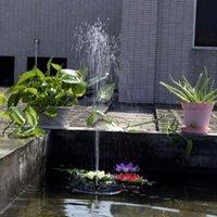 Pompe à eau de l'eau à énergie solaire extérieure Bain d'oiseau flottant pour kit d'arrosage d'étang de jardin