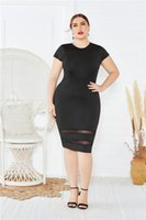 Sexy Crew Neck One Step Dresses Females Solid Color Casual Dress Womens Plus Size Pencil Dress Summer Designer Penelled