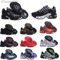 Nike Air Max Vapormax TN Plus Womens Sneakers desconto clássico Tn Mulheres Running Shoes Black Red White Sports Mulher instrutor superfície respirável sapatos casuais CP2D8