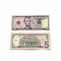 فيلم الدعامة البنكنوت 5 10 20 دولار لعبة عملة حزب وهمية المال الأطفال هدية 100 دولار تذكرة