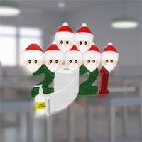 2020 Quarantine Famiglia Sticker Poster di Natale Xmas Party wall finestra di casa decorazioni di favore di bambini regalo del fumetto Toy 1234567F91207