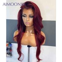Parrucca rossa Parrucca umana Capelli umani Parrucche anteriori del merletto colorato 360 parrucca frontale in pizzo precipitato con capelli bambino 360 remy 130%