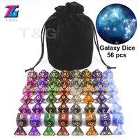 Univers Galaxy Super ensemble de D4-J20, Conseil du MDN Accessoires Jeu récent Hot Dice 56PCS avec le sac